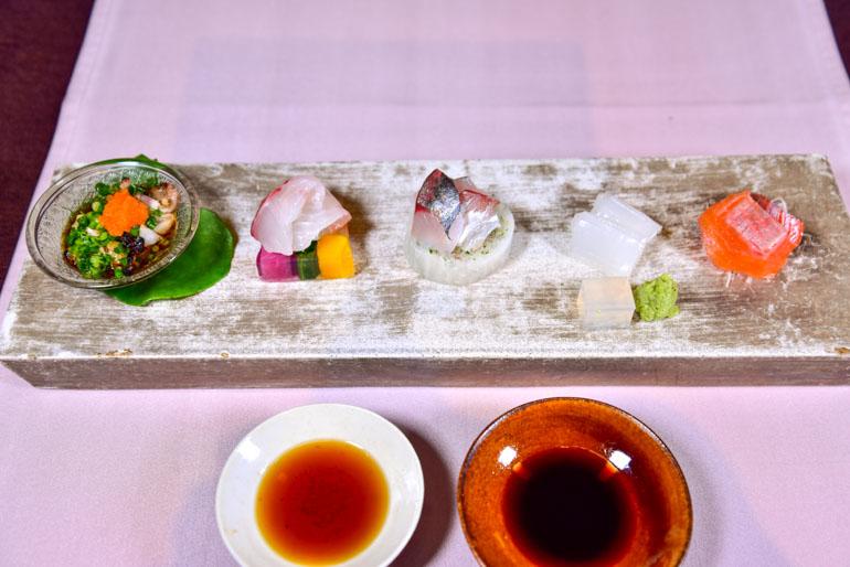 草庵秋桜 -料理-向「旬のお造り(特選コース)」