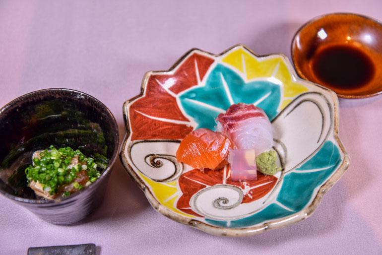 草庵秋桜 -料理-向「旬のお造り(旬彩コース)」